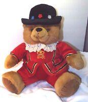 "London UK Policeman Keel Toys ER 17"" Teddy Bear Plush With Lace Collar"