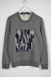 CERRUTI 1881 Men's LARGE Embroidered Front Crew Neck Sweatshirt Jumper 9278 mm