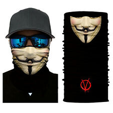 Face Shield Sun Mask Balaclava Neck Gaiter Bandana Neckerchief V for Vendetta