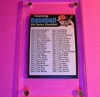1971 Topps Checklist #499 Baseball Card Hi GRADE NmMt HIGH NUMBER 5th SERIES