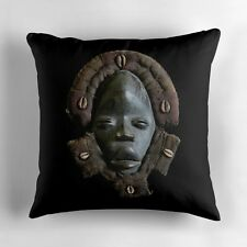 EXCLUSIVE AFRICAN DAN DEANGLE FACE MASK DESIGN THROW PILLOW ~ Stunning Unique