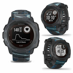 Garmin Instinct Solar Surf Pipeline Smart GPS Sports Surfing Running Watch