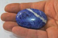Sodalite polie en forme de Savonnette galet sodalite 44g