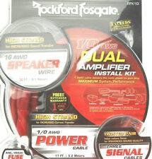 Rockford Fosgate RFK1D DUAL AMP 1/0 True AWG Amplifier WIRING Install KIT NEW