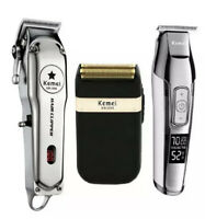 Kemei 3IN1 Metal Professional Electric Hair Clipper Rechargeable/ Trimmer/saving