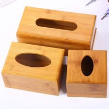 Creative Plain Wooden Tissue Box Cover Wood Holder Car Home Paper Storage M New
