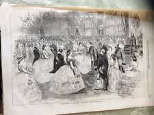 a2g ephemera 1863 picture folded the royal quadrille state visit royal dance