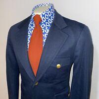Vtg 60s 70s CORBIN Blazer Suit Jacket Navy Mid Century Disco Coat MENS 40 Short