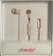 Apple Beats Dr. Dre urBeats3 Earphones Lightning Connector Matte Gold MR2H2LL/A