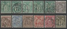"FRANCE STAMP 61 / 72  "" SAGE TYPE I SERIE 12 TIMBRES "" OBLITERES TB A VOIR  N445"