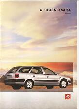 Catalogue brochure Katalog Prospekt CITROEN XSARA BREAK Année 1998 26 PAGES