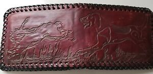 Dog and Rabbit - Prison made Bi-fold USA Made Beautiful Leather Laced Wallet