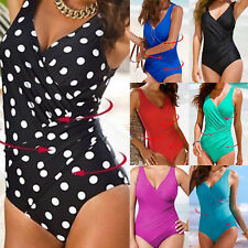 Women Tummy Control One Piece Swimsuit Padded Monokini Swimwear Bathing Suit