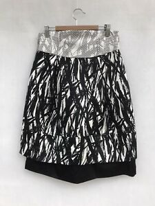 🍃 Womens Cue In The City Knee Length Print Skirt Party Cocktail Size 10