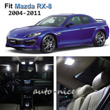 For 2004-2011 Mazda RX-8 Xenon White LED Interior Lights Kit 8 Pieces