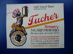 Altes Export-Bieretikett von der Tucher-Brauerei, NÜRNBERG