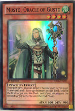 YUGIOH MUSTO, ORACLE OF GUSTO HA06-EN045 1st EDITION SUPER RARE