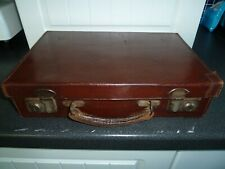 Tiny Vintage Leather Suitcase 1940s