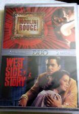 MOULIN ROUGE + WEST SIDE STORY  DVD NUEVO A ESTRENAR CON PRECINTO