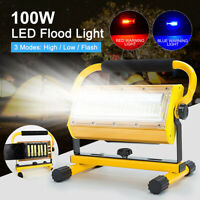 60 LED 100W Rechargeable Floodlight LED Flood Light Security Outdoor Work Light