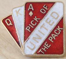 MANCHESTER UNITED vintage 1970s badge Maker COFFER N'ton Brooch pin 29mm x 25mm
