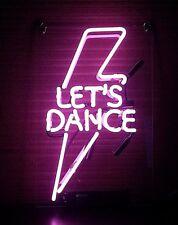 TN326 Let's Dance Lightning Flash Fun Poster Decor Neon Light Sign LED 14x9