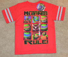 TMNT Turtles Boys 5/6 NEW Nickelodeon T-Shirt Short Sleeve NEW Red