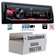 JVC Auto Radio für Dacia Duster MP3 USB Autoradio 4x50Watt KFZ Einbauset Android