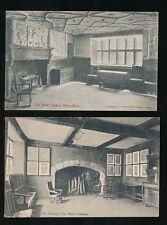 Wales Caenarfonshire CONWY Plas Mawr interior x2  pre1919 PPCs