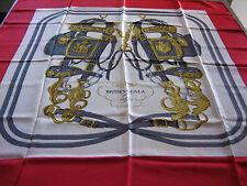 Foulard Hermes Brides de Gala Rosso