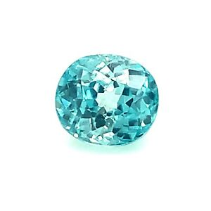2.25ct Blue Zircon from Cambodia Oval, High Dispersion, Natural Gemstone *Video*