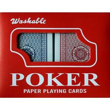 lot de 2 jeu de cartes de poker 54 cartes avec étui en plastique belote bridge