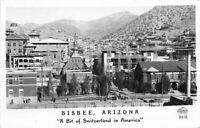 Birdseye Switzerland Frasher Bisbee Arizona 1940s RPPC Photo Postcard 11321