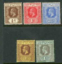 Fiji 1912 selection to 1 shilling MM