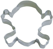 Skull and Crossbones Tin Cookie Cutter 3.25 IN. B0931 - R&M - Tin Plate Ste