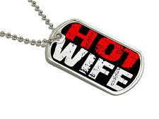 Hot Wife - Military Dog Tag Keychain