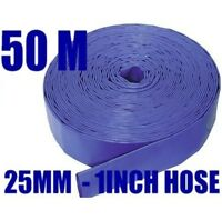 50M x 25mm (1inch) BLUE  LAYFLAT HOSE WATER PUMP SUBMERSIBLE PUMP HOSE