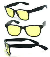 Retro Sqaure Frame Night Driving Spring Temple Yellow Lens Sun Glasses – 417ND