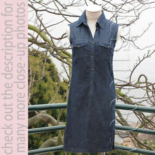 Burberry London (Made In Italy) Denim Button-Up Sleeveless Dress US4/UK6/I38/S