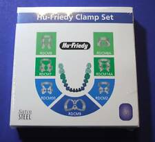 Assorted Satin Steel Rubber Damp Clamp Set  /7 ( 00 2 7 8 8A 9 14A ) HU FRIEDY