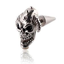 1PC Titanium steel Skull Heads Trendsetter Stud earrings GIFT EH135