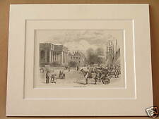 GREAT YARMOUTH QUAY ANTIQUE MOUNTED ENGRAVING c1890 OLD