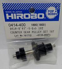 Hirobo 0414-400 Umlenk Getrieberad Set 18 T Counter Gear Pulley Set 18T