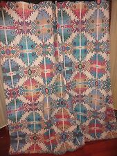 SPRINGS KILIMANIA SOUTHWESTERN AZTEC GREEN TAUPE RED SHOWER CURTAIN 67 X 68
