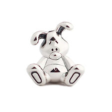 New Cute & Cuddly Rabbit Bunny Sterling Silver Charm Bead S925, Easter Charm