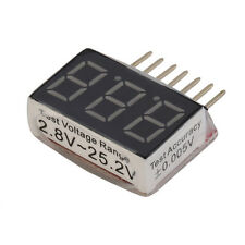 For RC Lipo Battery Low Voltage Alarm 1S-6S Buzzer Indicator Checker LED Tester