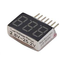 RC Lipo Li-ion Battery Voltage Alarm 1S-6S Buzzer Indicator Checker Tester LED