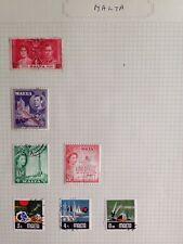 Malta pre & post war postage stamps