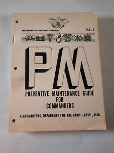 1958 U.S. Army Preventive Maintenance Guide for Commanders Pamphlet 750-1