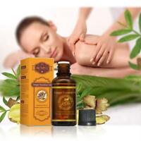 Natürliche Pflanzentherapie Lymphdrainage Ingwer Ätherisches Massageöl 30ml
